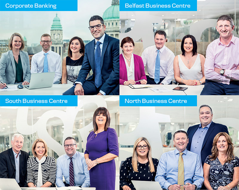 Danske Bank business centre teams, Corporate banking, Belfast business centre, South business centre and North business centre